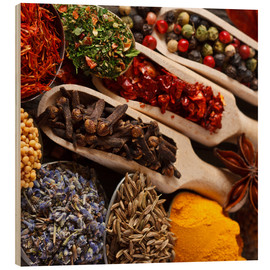 Madera  Colorful spices and herbs