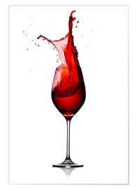 Póster  Red Wine Glass