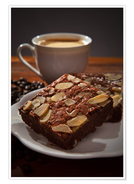 Póster  brownie and hot coffee