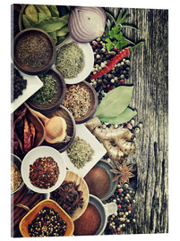 Cuadro de metacrilato  Spices And Herbs On Rusty Old Wood