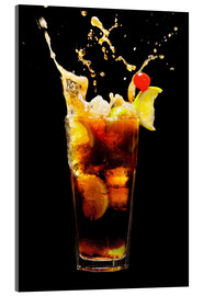 Cuadro de metacrilato  Cuba Libre Cocktail with splash