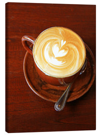 Lienzo  Cappuccino with heart shape