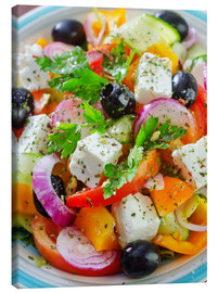 Lienzo  greek salad