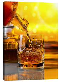 Lienzo  Whiskey with ice