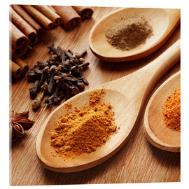 Metacrilato  Herbs and spices on wood