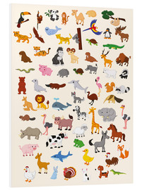 Cuadro de PVC  El mundo animal - Kidz Collection