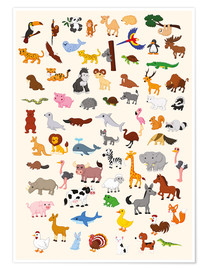 Póster  El mundo animal - Kidz Collection