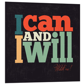Cuadro de PVC  I can and i will - Typobox