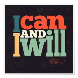 Póster I can and i will