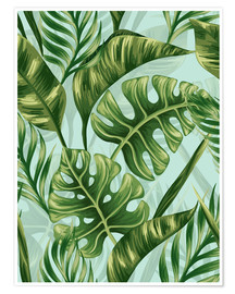 Póster  Monstera Leaves