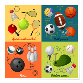 Póster  Do some sports - Kidz Collection