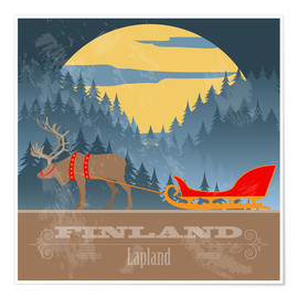 Póster  Finland - Lapland