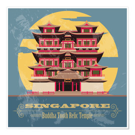 Póster  Singapore - Buddha Tooth Relic Temple