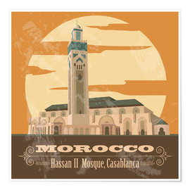 Póster  Morocco - Hassan II Mosque