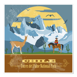 Póster  Chile - Torres del Paine