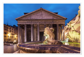 Póster  Pantheon at twilight, Rome, Italy - Circumnavigation