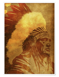 Póster Native American retro