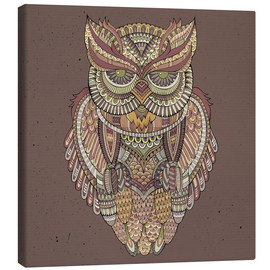 Lienzo  Owl - colours of the forest