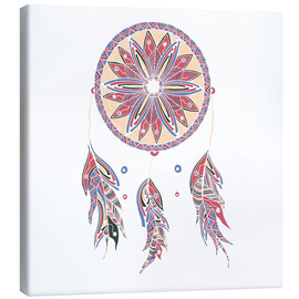Lienzo  Dream Catcher red-blue