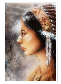 Póster Native American Woman