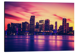 Aluminio-Dibond  Miami at sunset, USA