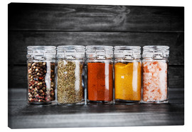 Lienzo  Spices in glass
