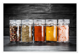 Póster Spices in glass