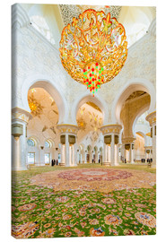 Lienzo  Sheikh Zayed mosque in Abu Dabi
