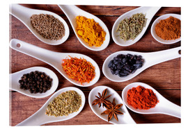 Spices in ceramic bowls