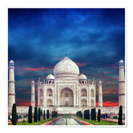 Póster Taj Mahal in India