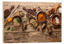 Madera  Spices and kitchen utensils