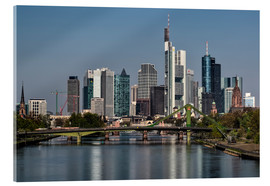Cuadro de metacrilato  Skyline Frankfurt am Main Shining Morning - Frankfurt am Main Sehenswert