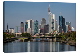 Lienzo  Skyline Frankfurt am Main Shining Morning - Frankfurt am Main Sehenswert