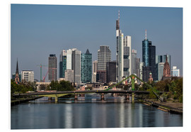 Cuadro de PVC  Skyline Frankfurt am Main Shining Morning - Frankfurt am Main Sehenswert
