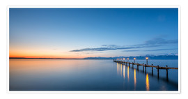 Póster Chiemsee at sunrise / landscape