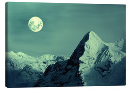Lienzo  Full Moon on the Eiger - Gerhard Albicker