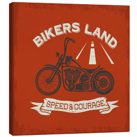 Lienzo  Bikers Land