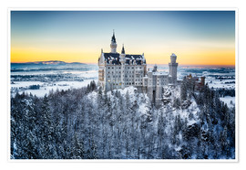 Póster  Neuschwanstein in the snow