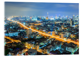Cuadro de metacrilato  Bangkok downtown Skyline at night