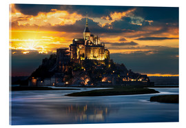 Cuadro de metacrilato  Mont Saint-Michel at sunset