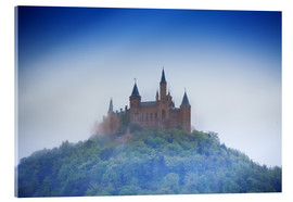 Hohenzollern castle in haze