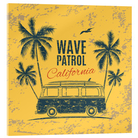 Cuadro de metacrilato  Wave Patrol California