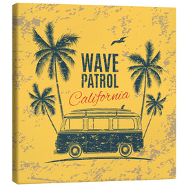 Lienzo  Wave Patrol California