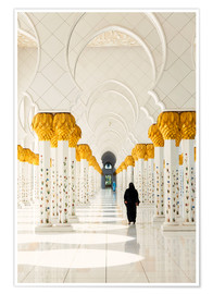 Póster  Sheikh Zayed Mosque in Abu Dhabi