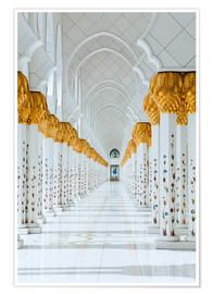 Póster  Detail of Sheikh Zayed Mosque