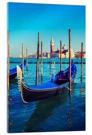 Cuadro de metacrilato  Gondolas in lagoon of Venice on sunrise