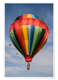 Póster  Colorful hot air balloon