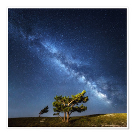 Póster  Milky Way - night sky with stars in Crimea