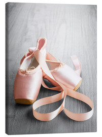 Lienzo  pink ballet shoes