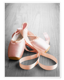 Póster  pink ballet shoes